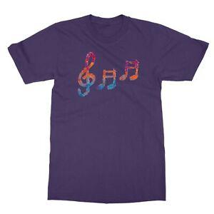 Music Note Musical Symbol Musician Rainbow Rock Men's T-Shirt