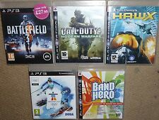 JOB LOT 5 x SONY PS3 GAMES Boxed Battlefield Call Duty 4 HAWX Vancouver BandHero