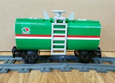 "NEW Lego Train Custom Green Octan Car 6"" inches long fits MOC/RC/9V/CITY/TOWN"