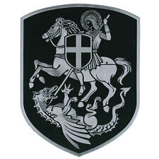 VEGASBEE® HUGE ST.GEORGE SLAYING DRAGON CROSS SHIELD BIKER EMBROIDERED PATCH 12""