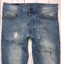 Mens DIESEL Tepphar Jeans W29 L32 Blue Slim Carrot Wash 0849E_STRETCH 🇮🇹