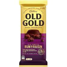 Cadbury Old Gold Jamaican Rum and Raisin Dark Chocolate Block 180g