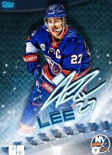 2019 BLADES ICE SIGNATURE ANDERS LEE 150cc Topps NHL Skate Digital Card
