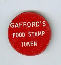 Vintage Gafford's Food Stamp Token, Good For 5 Cents