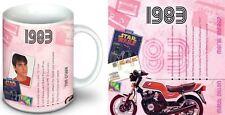 35th BIRTHDAY or ANNIVERSARY GIFT - 1983 Mug , 1983 CD and 1983 Year Card Set