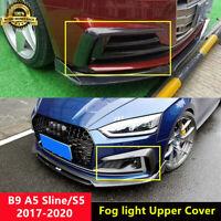S5 Front Fog Light Upper Cover Carbon Fiber Trim for Audi A5 B9 Sline & S5 2017+