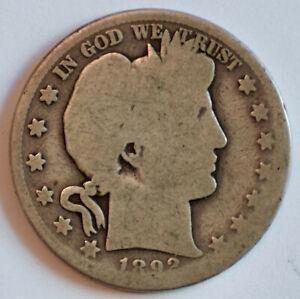 1892-S Barber half dollar 50c - AG/FR