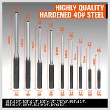9PCS Roll Pin Punch Set Gunsmith Craft Metal Pins Tools Assortment w Case Holder