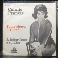 "Connie Francis - Somewhere, My Love 7"" VG+ Vinyl 45 MGM 1320 Denmark 1966"