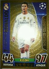 Champions League Match Attax 2015/2016 Real Madrid Cristiano Ronaldo LE1 Golden