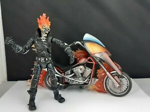 "Rare Marvel Legends Ghost Rider & Bike 6"" Action Figure 2005 ToyBiz Series 7"