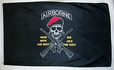 Airborne Mess With The Best Die Like The Rest Flag 3' x 5' Indoor Outdoor Banner
