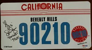 TORI SPELLING 90210 Signed Authentic LICENSE PLATE Autographed PSA/DNA DONNA 1