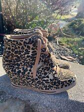 Bucco Shoes Wedges Sneakers Leopard Size 7.5M Boho Retro ECU