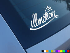 ILLMOTION CAR STICKERS DECALS FUNNY ILLEST FATLACE STANCE DUB JDM DRIFT