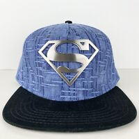 Superman Logo Snapback hat adjustable Blue/Black baseball cap  DC Comics