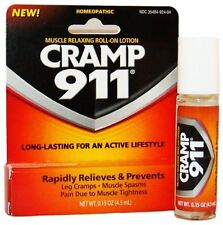 4 Pack - Cramp 911 Muscle Relaxing Roll-on Lotion 0.15oz Each