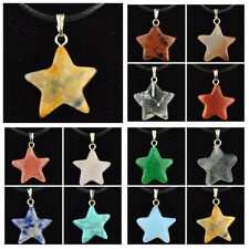 LOTS Wholesale 12 PCS Natural Stone Solid Star Pendant Necklace