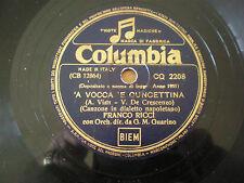 78 Giri FRANCO RICCI - A' voce Mamma Cuncettina - GUARINO - Etich. COLUMBIA 1951