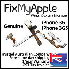 iPhone 3GS 3G OEM Power Headphone Jack Audio Volume Mute Button Flex Cable White
