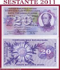 SWITZERLAND / SVIZZERA - 20 FRANKEN 7.2. 1974 sign. 43   - P 46v  - FDS / UNC