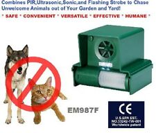 ANIMAL AWAY PLUS Repeller Fox Gatto Cane lampeggiante Strobe WEATHERPROOF sensore di movimento