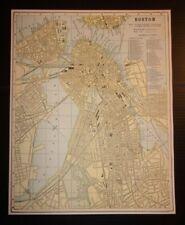 Antique 1893 Map of Boston, Massachusetts