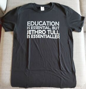 JETHRO TULL-ESSENTIAL/ESSENTIALLER-FRONT PRINT-BLACK GILDAN T-SHIRT-NEW