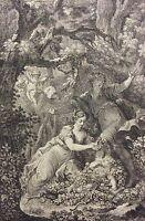 Temple de Gnide c 1750 elle coupa Ailes de l'amour Charles Eisen Noël Le Mire