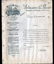 """LE PLESSIX prés de COESMES (35) ARDOISIERES """"F. GUFFROY Directeur"""" en 1909"""