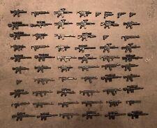 Waffen Set für LEGO Minifiguren 62 Stück - Militär Custom Polizei Soldaten City