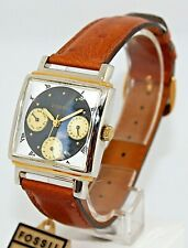 Orologio FOSSIL AUTHENTIC Vintage TG4027 NUOVO Quadrato cinturino in pelle