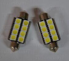 COPPIA SILURI 5050 39MM 8 LED CANBUS C5W C10W T11 COLORE BIANCO OTTIMA QUALITA'