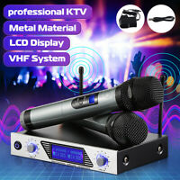 ARCHEER Handheld VHF Wireless Microphone System Karaoke Stage Home Party KTV Set