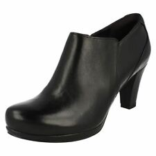 Zip Leather Casual Booties for Women