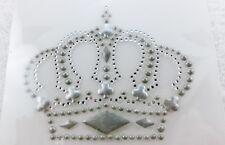 Hotfix Bügelbild Tolle Krone Strass - Silber Crystal 130905