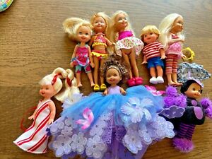 Barbie Little Sister Chelsea Tommy Doll Lot 8 Dressed Dolls Accessories