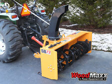 "WOODMAXX SB-72 PTO Snow Blower 72"" (FREE SHIPPING to the lower 48 States)."