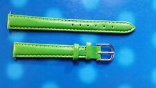 BRACELET MONTRE  /// watch bands / CUIR DOUBLE SYNTH    / 12MM //  VERT   / JR55