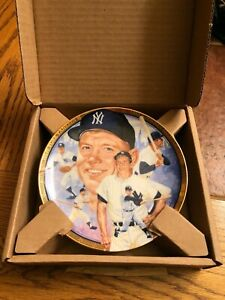 Mickey Mantle Baseball Plate Best of Collection Limited Edition New Box