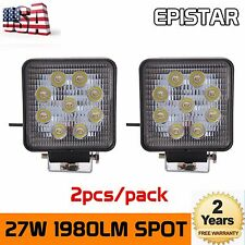 2X 27W Square LED Work Light SpotLights Offroad Driving Lamp Truck Auto SUV 4WD