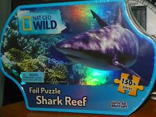 Foil Puzzle National Geographic WILD SHARK REEF 150+ pieces NIB and Wrapper