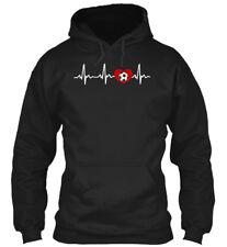 My Heart Beats For Soccer Gildan Hoodie Sweatshirt