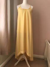 Selected Femme Women's Yellow Grecian Floaty Summer Holiday Maxi Dress Sz UK 12