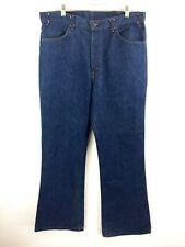 VTG Levi's Men's 646 Dark Wash Indigo Orange Tab Flare Hippie Jeans Size 38x31