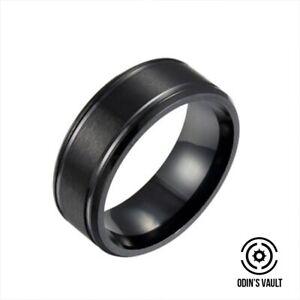 8mm Men Women Couple Titanium Steel Finger Fashion Wedding Engagement Rings