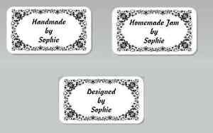 Pre Printed Self Adhesive Personalized Ingredients Labels Vintage Frame Handmade