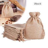 Paquet de 20 sacs-cadeaux à cordon en toile de jute en tissu pochette de Noël