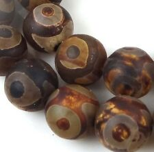 12mm Tibetan Old Agate Round Beads (16 pcs)