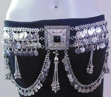 New Kuchi Tribal Oxidized Hip Belt Jewelry Belly Dance Gypsy Boho